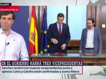 """Pablo Montesinos critica las cuatro vicepresidencias del Gobierno: """"Es el despilfarro del PSOE y Podemos"""""""