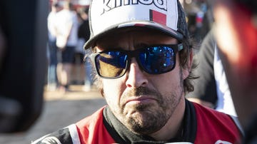 Fernando Alonso, tras una etapa del Dakar