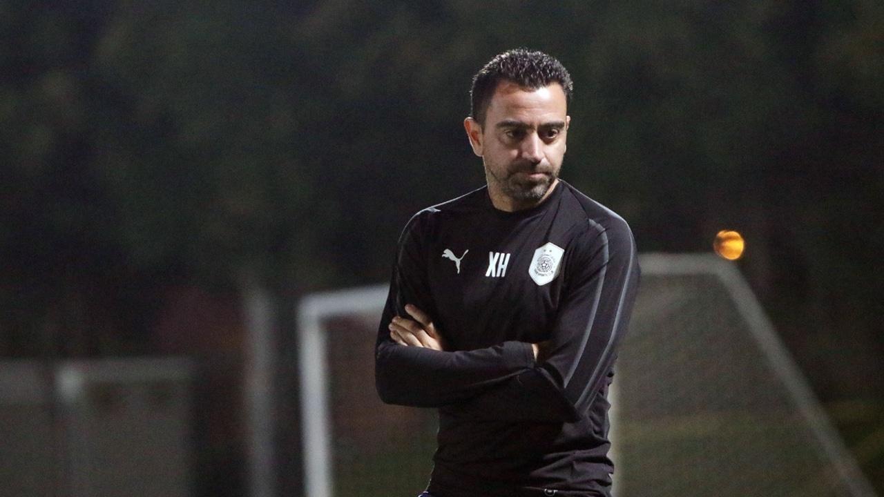 Xavi Hernández, en un entrenamiento del Al-Sadd