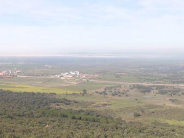 Vista de las afueras de Cáceres
