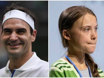 Roger Federer, contra Greta Thunberg
