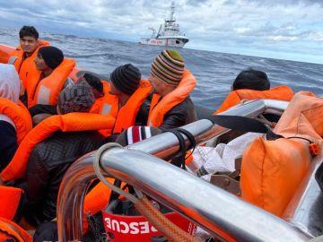 Imagen del rescate realizado por Open Arms