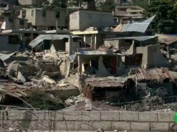 Un campamento de Haití