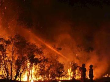 Imagen de los incendios forestales en Australia.