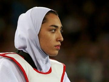 Kimia Alizadeh, durante una competición