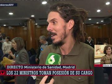 """Alberto Rodríguez, tras la toma de posesión del Gobierno de coalición: """"Esto es histórico"""""""