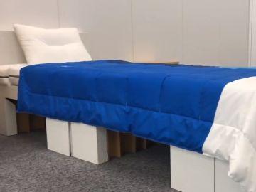 Las camas de cartón que habrá en los Juegos Olímpicos de Tokio