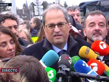 """Torra apoya a Puigdemont y Comín en su estreno como diputados: """"Miles de catalanes vuelven a tener voz en el Parlamento Europeo"""""""