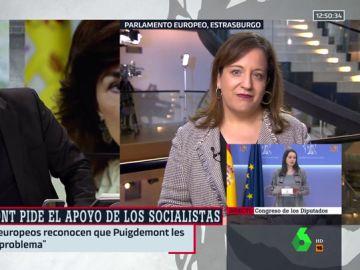 """Iratxe García (PSOE): """"El diálogo para resolver el conflicto en Cataluña no puede ser incompatible con dejar trabajar a la justicia"""""""