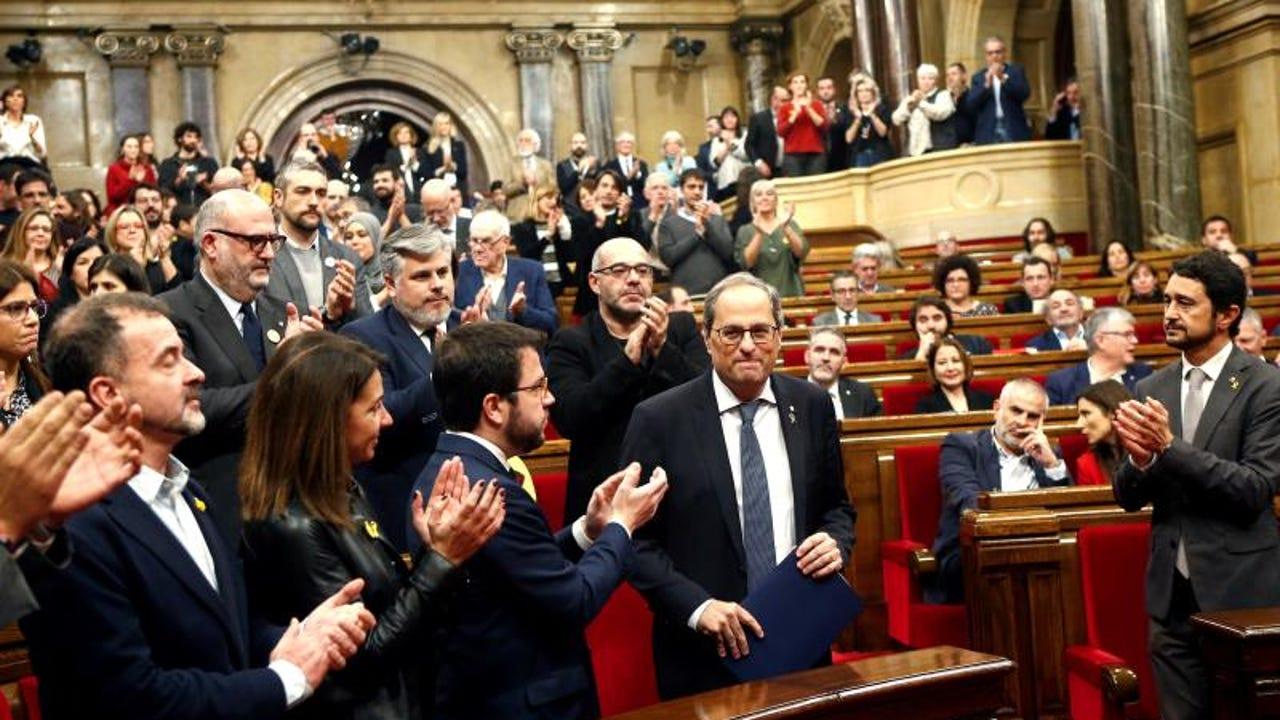 Quim Torra en una foto de archivo dentro del Parlament catalán