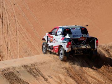 Fernando Alonso disfruta del Dakar