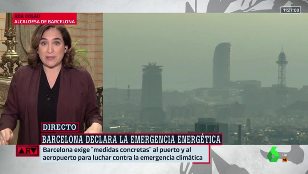 """Ada Colau defiende su actuación frente a la contaminación: """"El objetivo de reducir el 50% de las emisiones no es negociable"""""""