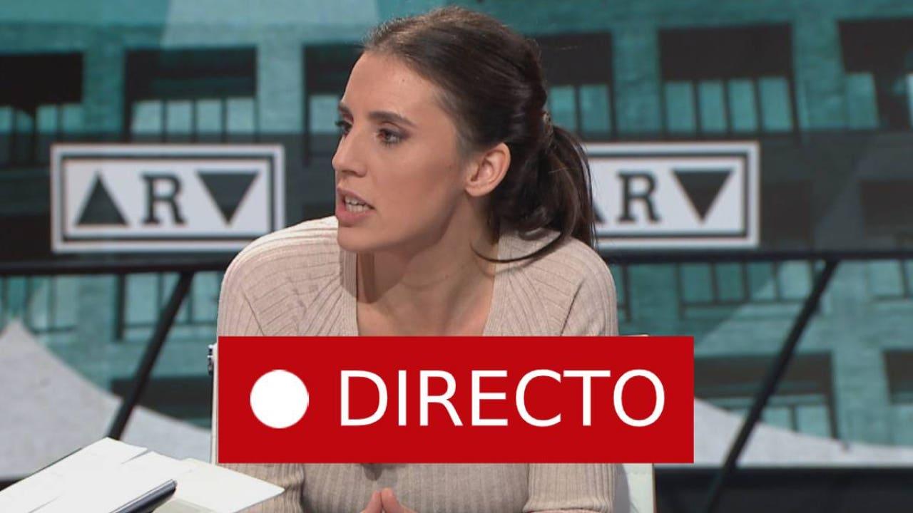 Irene Montero, ministra del nuevo Gobierno de Pedro Sánchez, en directo