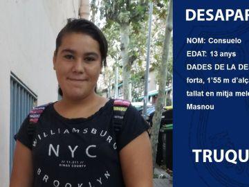 Imagen de Consuelo, la menor desaparecida en Barcelona