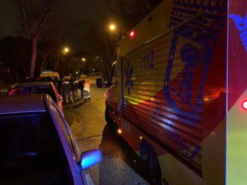 Lugar en el que un joven ha sido apuñalado en Madrid