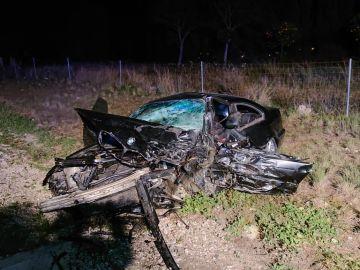 Imagen del accidente en la A-7 a la altura de Picassent
