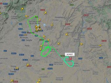 El avión de Air Canada que prepara un aterrizaje de emergencia en Madrid-Barajas