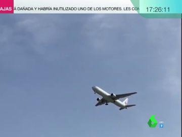 """El mensaje del piloto del avión de Air Canada que intenta aterrizar en Madrid a los pasajeros: """"Les pedimos mucha calma"""