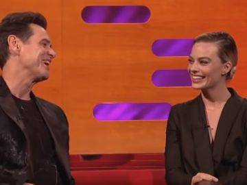 Jim Carrey junto a Margot Robbie