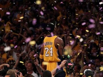 Kobe Bryant en una celebración