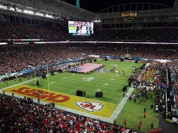 El estadio de la Super Bowl