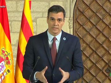 """La palabra que Sánchez ha utilizado más de diez veces tras reunirse con Torra: """"Es especialista en repetir para que cale el mensaje"""""""