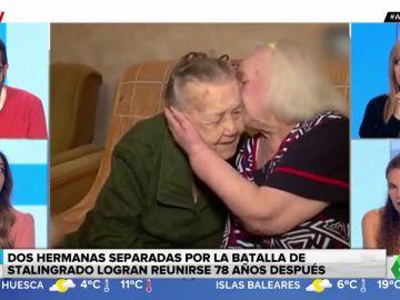 El emotivo reencuentro de dos hermanas 78 años después de separarse por la batalla de Stalingrado