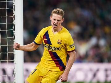 De Jong en un partido con el FC Barcelona