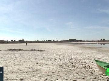 Las lagunas de Villafranca de los Caballeros, en total sequía por la falta de lluvia y las altas temperaturas