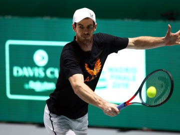 Andy Murray disputando un partido de la Copa Davis