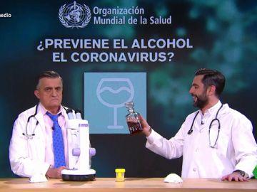 Beber orina o usar alcohol: Dani Mateo somete al 'método científico' los principales bulos sobre cómo prevenir el coronavirus