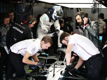 Valtteri Bottas en los test de pretemporada en Montmeló