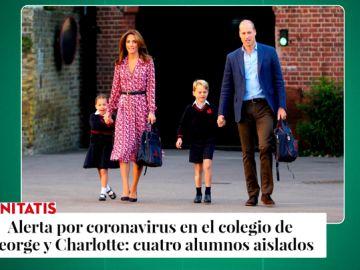 El coronavirus llega a la familia real británica: alerta en el colegio de los hijos de Kate Middleton y el príncipe Guillermo