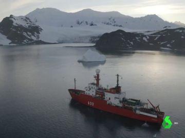 La expedición del buque español Hespérides a la Antártica para estudiar la evolución del planeta
