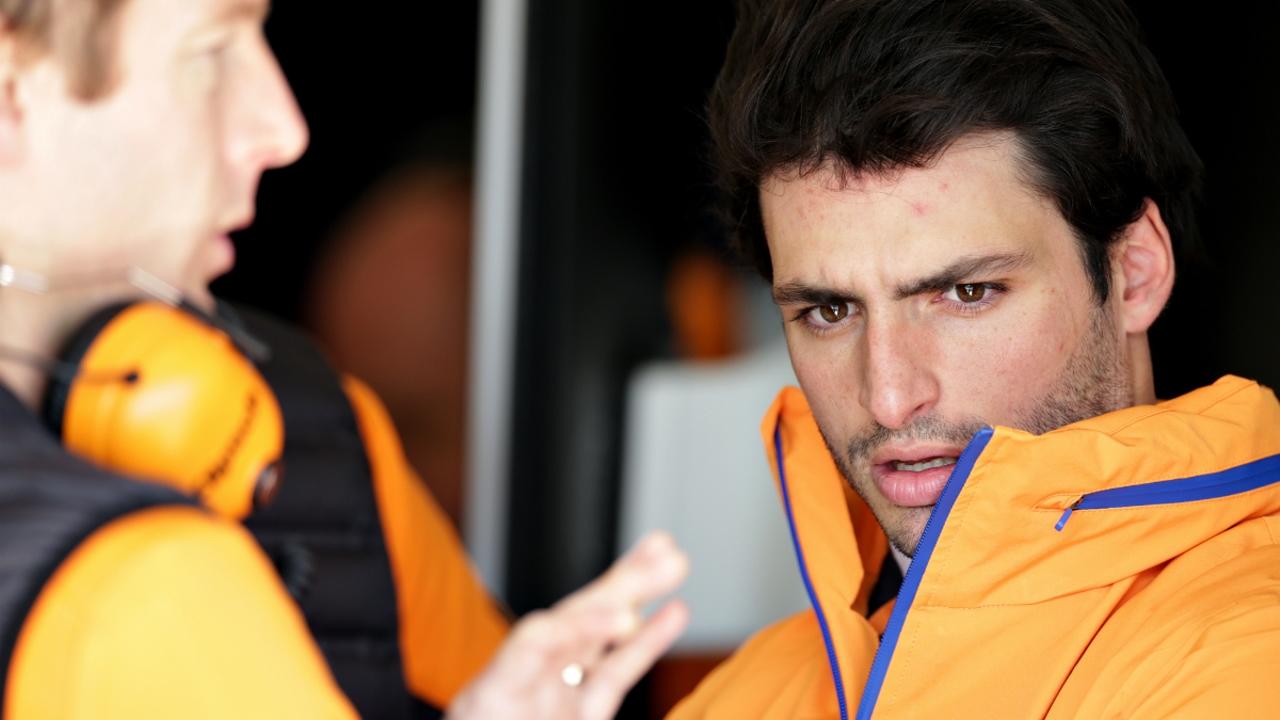 Carlos Sainz, con el equipo McLaren