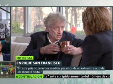Enrique San Francisco con Cristina Pardo