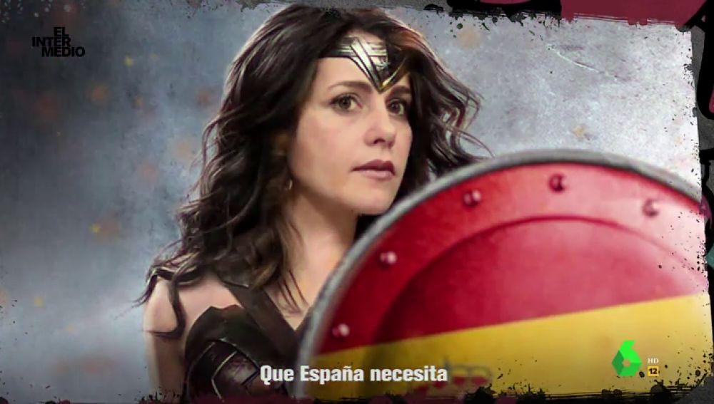 """Este es el himno de Inés Arrimadas, """"la Superwoman feminista liberal que el país necesita"""": """"España, soy tu única salvación"""""""