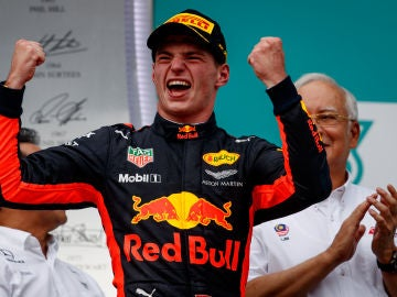 Max Verstappen tras ganar el Gran Premio de Malasia