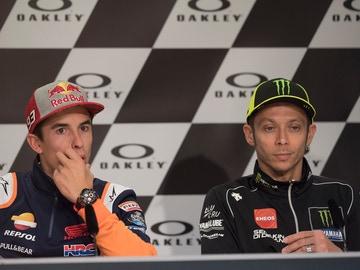 Marc Márquez y Valentino Rossi
