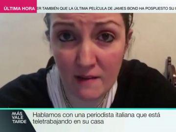 """La periodista italiana Alessia Scuratti narra cómo están viviendo el brote de coronavirus: """"No recuerdo que haya pasado nunca algo así"""""""