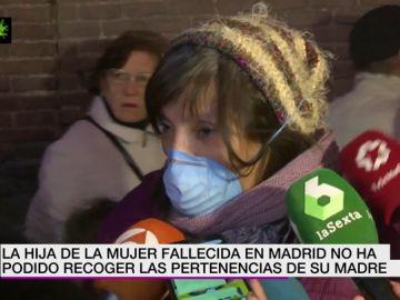 La hija de la anciana fallecida en Madrid por coronavirus