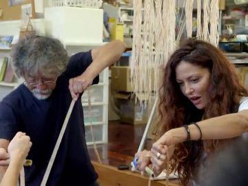 "Patricia Pérez aprende a hilar tela bashofu en Japón: ""¡Qué maravilla!"""