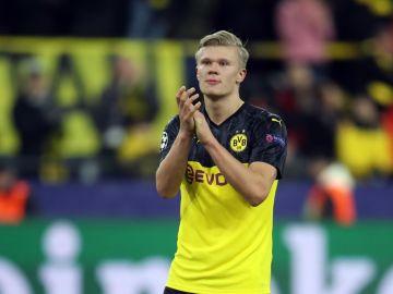 Haaland, con el Borussia Dortmund