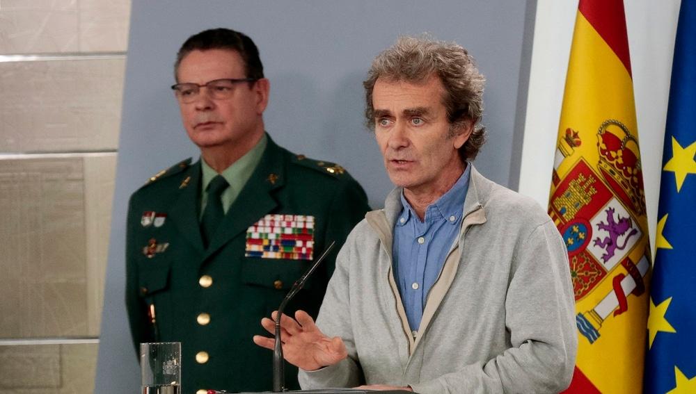 Fernando Simón, durante su comparecencia