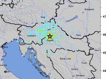 Imagen del terremoto en Croacia