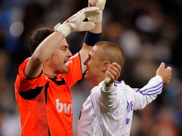 Iker Casillas y Fabio Cannavaro
