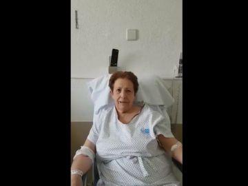 Carmen, una paciente que supera el coronavirus con 75 años