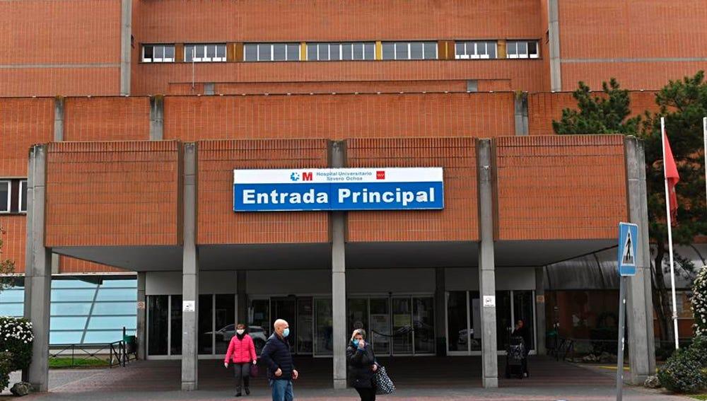 Vista del exterior del Hospital Universitario Severo Ochoa de Leganés.