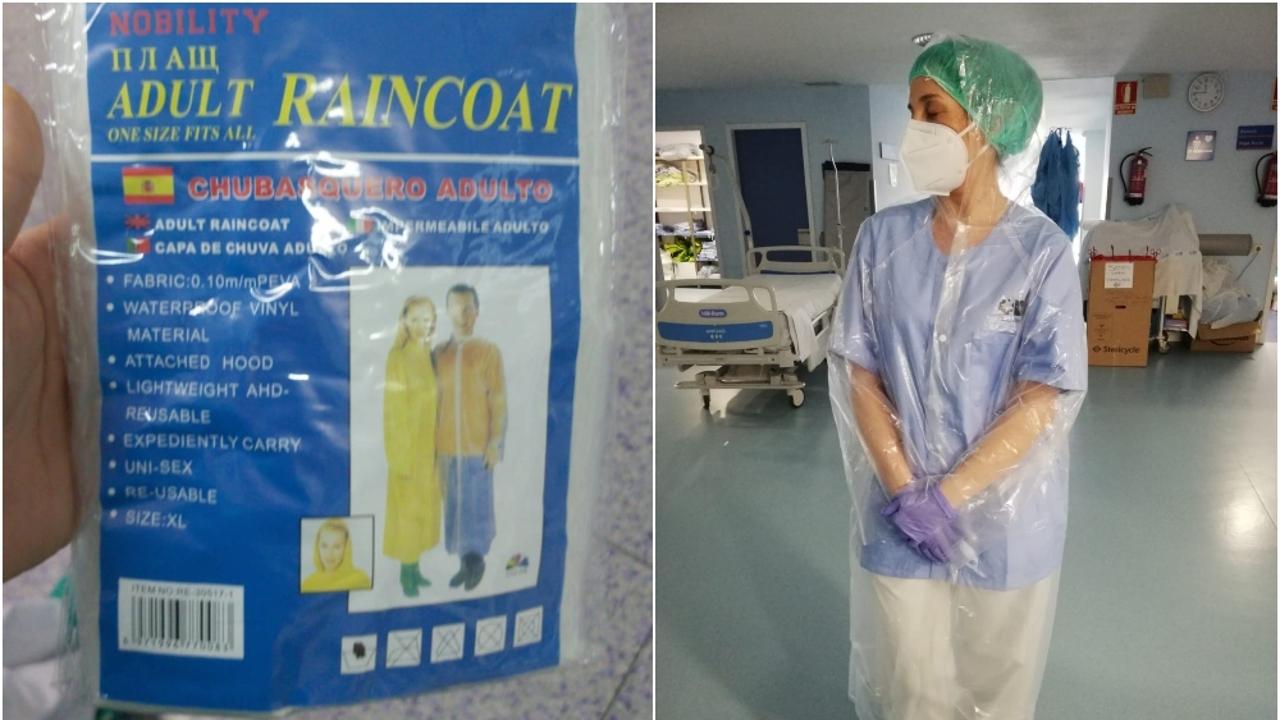 Imágenes del equipo entregado a profesionales sanitarios en el Severo Ochoa