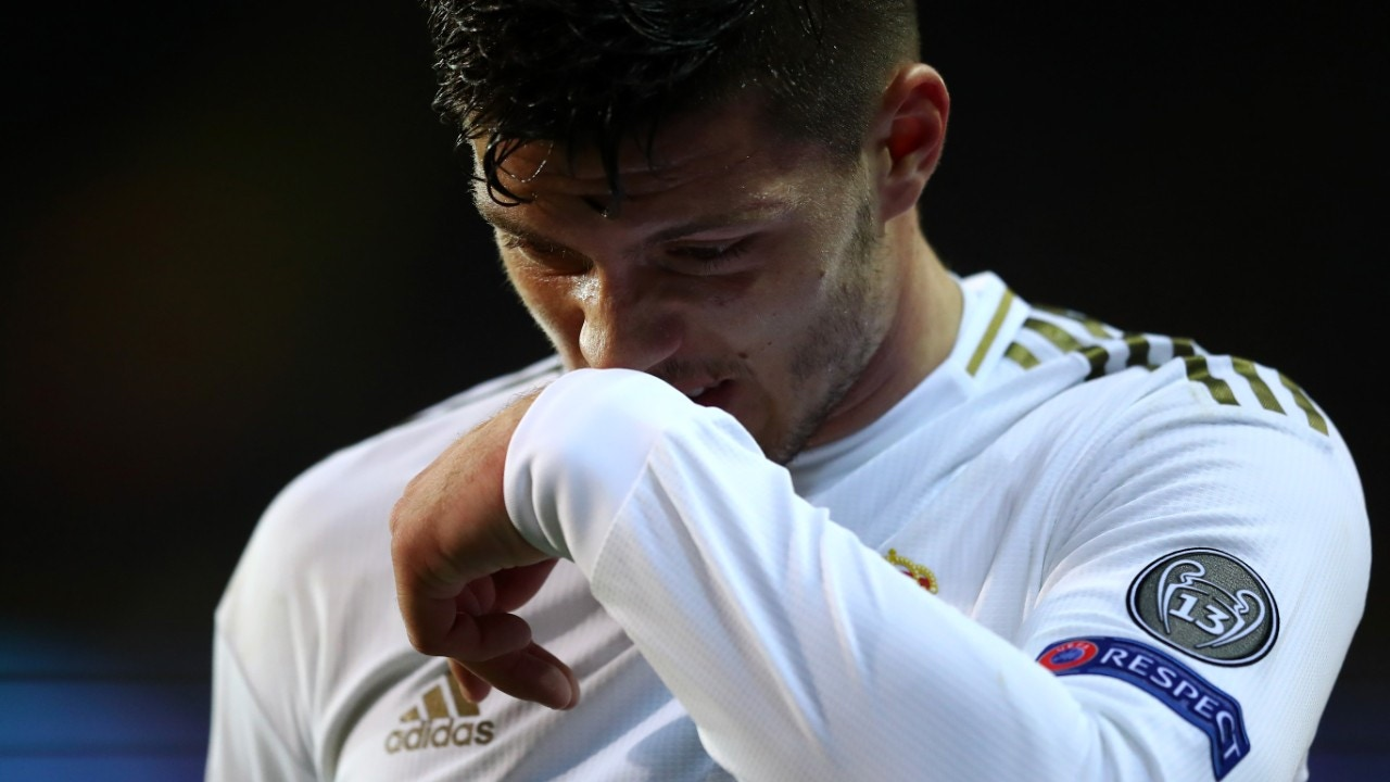 Luka Jovic, con el Real Madrid